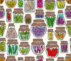 Pickles and more! fabric by cassiopee on Spoonflower - custom fabric