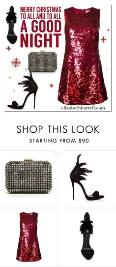 """Merry Christmas my Lovelies!"" by elizabethhorrell ❤ liked on Polyvore featuring Zara, Giuseppe Zanotti, Yves Saint Laurent and Sixtrees"