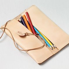100 Handstitched Leather Pencil Case Multipouch by AnneSoye $1,222.57  Size: 20.00cm*8.00cm