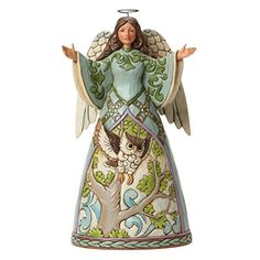 "Department 56 Jim Shore Heartwood Creek Angel with Owl Figurine, 9.5"" Department 56 http://www.amazon.com/dp/B00PBKU8HE/ref=cm_sw_r_pi_dp_M2d9wb11167NB"