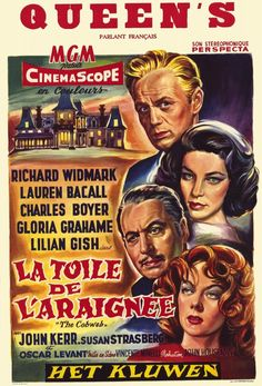 """The Cobweb"" (1955)  Bizarre movie......The entire story is about hanging drapes in a sanitarium!"