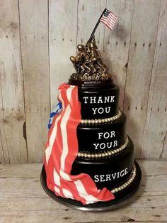 Cake of the Week: Happy Veterans Day Retirement Party Decorations, Retirement Cakes, Retirement Parties, Retirement Ideas, Army Cake, Military Cake, Military Party, Cupcakes, Cupcake Cakes