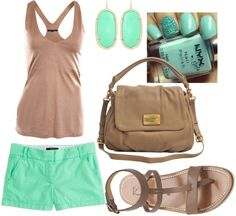"""Mint and Nude"" by naterie on Polyvore"