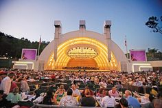 America's largest amphitheater  Popular plate: It's traditional to pack a big gourmet picnic and tuck in on the grounds.