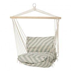 Striped Hammock Chair  Pale green  Bloomingville