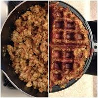 Stuffing in waffle maker
