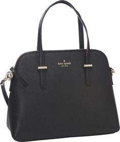 kate spade new york Cedar Street Maise Convertible Satchel Handbag Black Kate Spade Handbags, Kate Spade Purse, Satchel Handbags, Black Handbags, Handbags Michael Kors, Purses And Handbags, Kate Spade Black Bag, Cheap Kate Spade Bags, Kate Spade Gifts