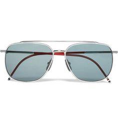 Thom BrownePolarised Metal Aviator Sunglasses