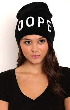 Deb Shops Knit Hat with Dope