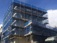 B&J company providing professional scaffolding services in London, we support construction companies but we also invite individual customers. Scaffolding, Multi Story Building, Construction, London, Building