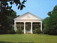 Greenwood Plantation near Thomasville, Georgia is a Greek Revival mansion designed by architect John Wind, built 1838-1844 for Thomas & Lavinia Jones. It was sold to millionaire & horse racing enthusiast Payne Whitney at the end of the 19th century. After Payne's death in 1927, Greenwood was inherited by his son Jock Whitney, who was responsible for arranging the financing for the movie Gone with the Wind, which premiered in Atlanta in December 1939, with Jock Whitney in attendance.
