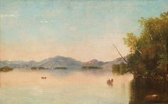 """Lake George,"" Nelson Augustus Moore, oil on canvas, private collection."