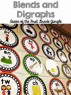Queen of the First Grade Jungle: Wishlist Wednesday: Blends and Digraphs SALE and GIVEAWAY