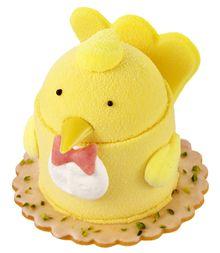 Cute Chicken Cake http://www.juchheim.co.jp/die-meister/b_collabo/vol31/