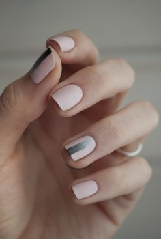 Nailpolis Museum of Nail Art | minimalistic gradient by Jule