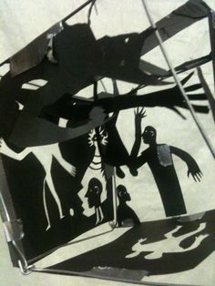 Papercut silouettes by Nic Rawling