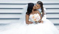 Enjoy this breath-taking black lesbian wedding video - black lesbian love lab Cute Lesbian Couples, Lesbian Love, Lesbian Wedding, Wedding Couples, Chic Wedding, Orlando, Black Lesbians, Two Brides, Wedding Highlights
