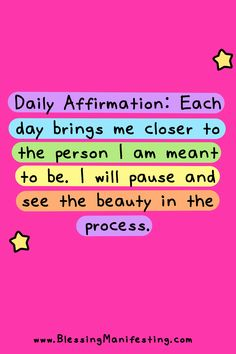 Each day brings me closer to who I am meant to be Mental Health Resources, Health Advice, Positive Self Affirmations, Emotional Regulation, Pretty Words, Real Quotes, Quotable Quotes, How To Get Rid, Healthy Habits