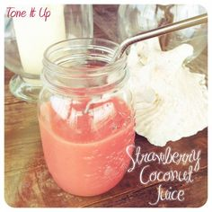 Tone It Up Approved Strawberry Coconut Juice