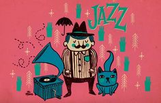 'Me, my friend and some Jazz' Artpiece for Ammo Magazine from UK more at: http://facebook.com/mr.mooree