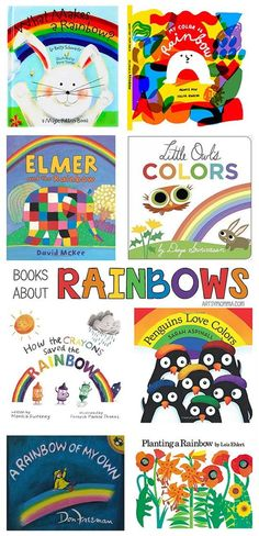 Charming Kids Books About Rainbows - Preschool Children Activities Rainbow Activities, Color Activities, Activities For Kids, Spring Activities, Reading Activities, Literacy Activities, Preschool Colors, Preschool Themes, Preschool Kindergarten