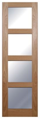 Freedom Beauly French Door Panel Hardwood (KSK) 03629 Natural (H)1981 x (W)579 x (D)35mm, 3629