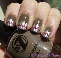 Base: CND - Stickey  Base Colour: W7 - Suede  Plate: Bundle Monster BM216  Stamp Colour: China Glaze - Millennium  Glitter: Two Glitter Nail Art Pens - No Names  Top Coat: China Glaze - No Chip Top Coat
