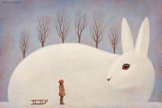 """Paolo Domeniconi   ILLUSTRATION   """"Winter morning"""" - unpublished"""