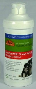 Fortified with all three omega-3s (ALA, EPA and DHA) as well as omega-6 fatty acids, Wild Ocean Fish & Cod Liver Oil by WellyTails promotes itch-free skin and a glossy coat while supporting the brain, eyes and overall health. Human-grade ingredients with nothing artificial.  www.wellytails.com