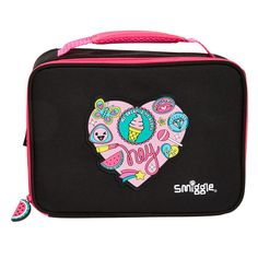 Smiggle Says Square insulated cooler bag $18. 24cm x 18cm x 8.5cm.