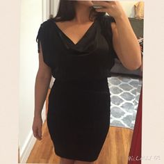 Black Kardashians by Bebe silk top bandage dress Sexy cocktail dress perfect for any formal event, wedding, or a night out. Great fit and very flattering. bebe Dresses Midi
