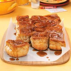 these are sooo good and warm a winter day!!!  Easy to make with frozen bread dough :)