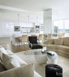 Modern White Bar Area | LuxeSource | Luxe Magazine - The Luxury Home Redefined