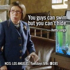 NCIS Los Angeles 4x14  L-O-V-E the doppelgänger fish tank <3 it's perfect