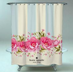 8ddd9ddd22df Best Kate Spade Floral New Beautiful Waterproof Shower Curtain