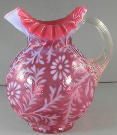Fenton Cranberry Opalescent Fern & Daisy Pitcher Crimped Rim  http://www.ebay.com/itm/Fenton-Cranberry-Opalescent-Fern-Daisy-Pitcher-Crimped-Rim-/330708878085?pt=LH_DefaultDomain_0=item4cffc90305#ht_3463wt_754