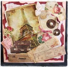 """Vintage kaart """"Parijs"""" ...VERKOCHT"""