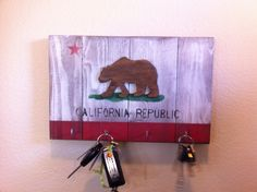 California Flag Key Rack. $49.00, via Etsy.