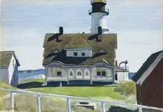 Edward Hopper, Captain Strout's House, Portland Head on ArtStack #edward-hopper #art