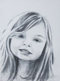 Child Portrait Drawing   Custom Pencil Portrait  by EarthChildArt