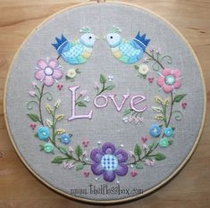 Love Crewel Embroidery. My latest  #embroidery #stitching #needlework #handmade #fiberart #hoopart #crewelwork #crewel