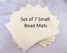 Beading Mat, Vellux Mat, 8x6 Bead Mat, 7 Pack Bead Mats, Beige Bead Mats Beading Tools, Beige, Unique Jewelry, Handmade Gifts, Etsy, Kid Craft Gifts, Craft Gifts, Costume Jewelry, Diy Gifts