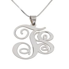 2 Letters Silver Monogram Necklace - Left  A dazzling design from our latest collection  This customized name necklace is actually an ideal to celebrate a romantic anniversary or any other special occasion such as holy day, Valentine's Day or any other special event.  $34  http://www.namenecklacesale.com/2_letters_silver_monogram_necklace-Left.html