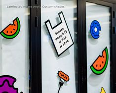 Every store needs a fancy window sticker to guide people in. We recommend using 1-color vinyl sticker or laminating the printed stickers so they last for ever. Window Stickers, One Color, Fancy, Windows, Shapes, Printed, Store, People, Products