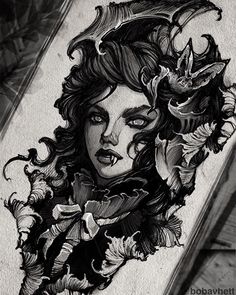 Cool Sketches, Tattoo Sketches, Tattoo Drawings, Moonlight Photography, Tattoo Artwork, Gothic Tattoo, Ink Addiction, Neo Traditional, Unique Tattoos