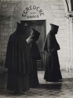 """Trappist order """"Notre-Dame de la Grande Trappe,""""  in Soligny-sur-Orne, France,1928 by André Kertész *"""