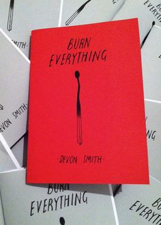 Burn Everything mini zine by Deerface on Etsy, $3.50
