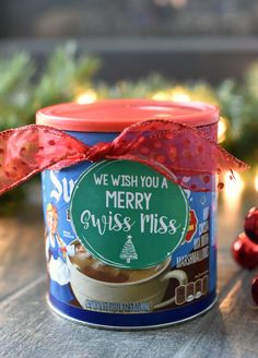 We Wish You a Merry Swiss Miss Christmas Neighbor Gift We Wish You a Merry Christmas Gift Idea-Add this cute tag to a package of hot chocolate and youve got a cute easy and fun neighbor gift idea! Source by crazylittleproj Merry Christmas, Neighbor Christmas Gifts, Diy Holiday Gifts, Neighbor Gifts, Homemade Christmas Gifts, Christmas Gifts For Women, Christmas Crafts, Diy Gifts, Christmas Crunch