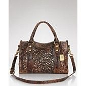 Frye Studded Glazed Leather Satchel. Need!