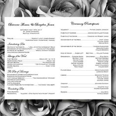 Catholic Wedding Program Simply Stripes Black By Weddingtemplates